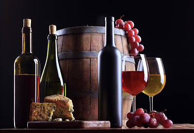 Photograph - Wine Composition by Valentinrussanov