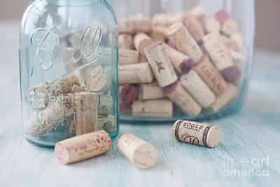 Wine Cork Collection Art Print by Kay Pickens