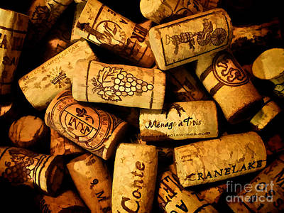 Photograph - Wine Corks - Art Version by Mark Miller