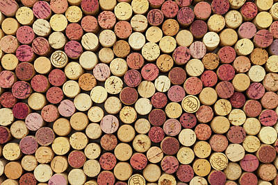 Photograph - Wine Corks Background by Dem10