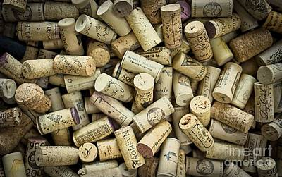 Winery Photograph - Wine Corks by Edward Fielding