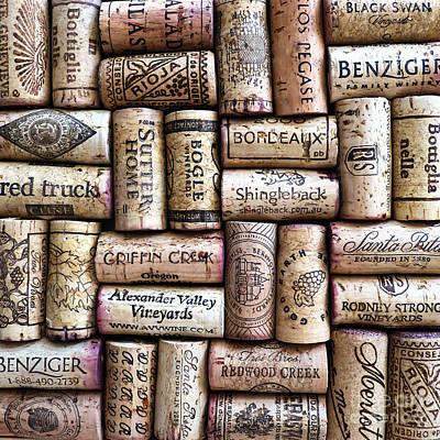 Wine Corks Art Print by Patricia Januszkiewicz