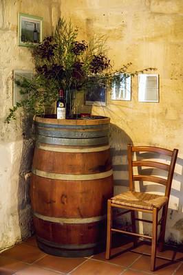 Wine Barrel Photograph - Wine Corner by Georgia Fowler