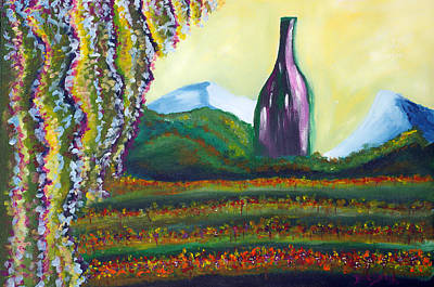 Painting - Wine Country by Donna Blackhall