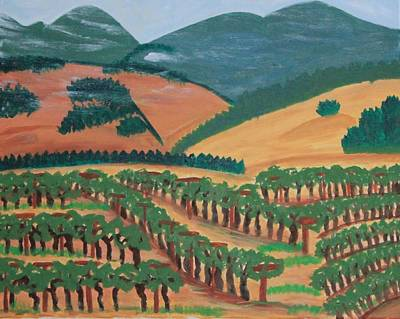 Wine Country Painting - Wine Country Iv by Kathleen Fitzpatrick
