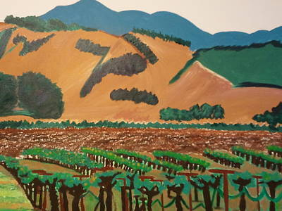 Wine Country  Art Print by Kathleen Fitzpatrick