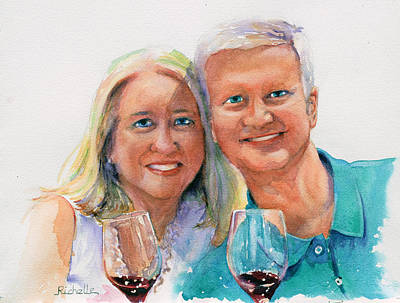 Wine Country Watercolor Painting - Wine Country Vacation by Richelle Siska