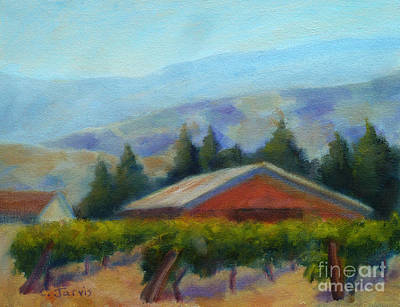Napa Valley Vineyard Painting - Wine Country View by Carolyn Jarvis
