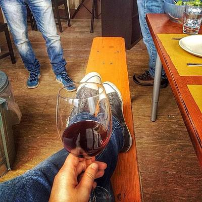 Photograph - Wine, Food, Friends. Priceless Moments by Dida 🏀🏀 