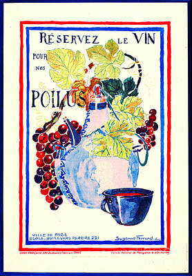 Wine For Soldiers 1916 Art Print by Padre Art