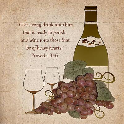 Wine For The Heart Art Print by TnBackroadsPhotos