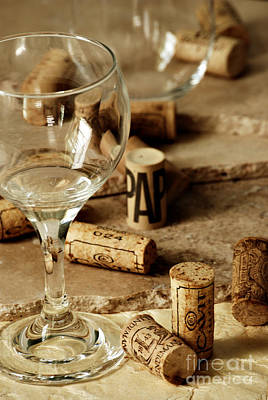 Winery Photograph - Wine Glass And Corks by HD Connelly