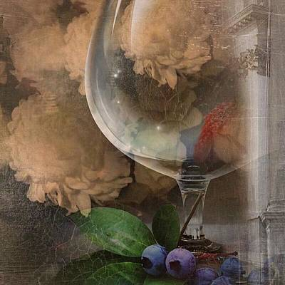 Photograph - Wine Glass And Flowers by Georgiana Romanovna
