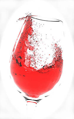 Wine Glass Art Print by Brainwave Pictures