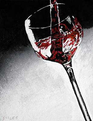 Wine Glass Art Print by Mark Stiles