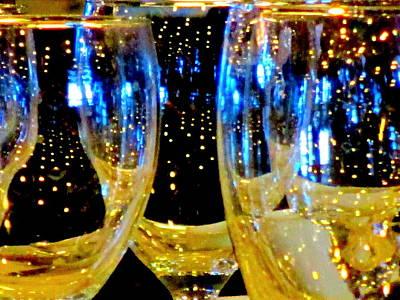 Glassware Digital Art - Wine Glasses 1 by Randall Weidner