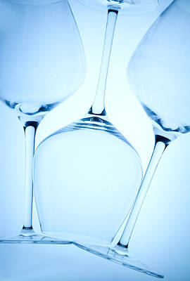 Photograph - Wine Glasses 1 by Rebecca Cozart