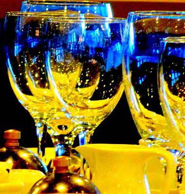 Glassware Digital Art - Wine Glasses 2 by Randall Weidner