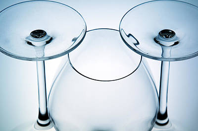 Photograph - Wine Glasses 6 by Rebecca Cozart