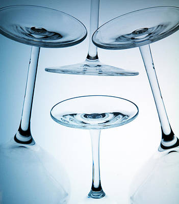 Photograph - Wine Glasses 8 by Rebecca Cozart