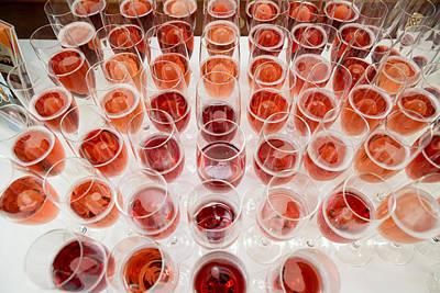 Wine Glasses, Dinner Cruise, Reykjavik Art Print