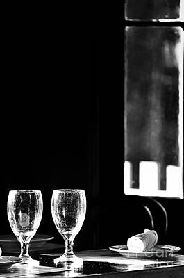 Photograph - Wine Glasses On Table By Window by Danny Hooks