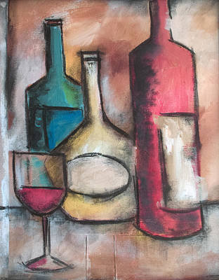 Painting - Wine Glasses by Sean Parnell