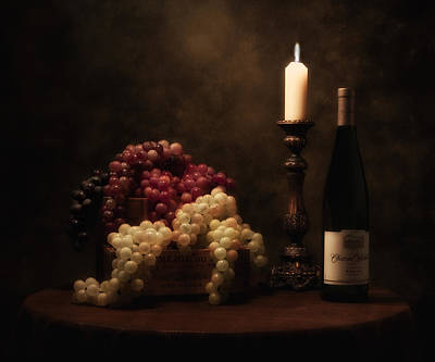 Candle Lit Photograph - Wine Harvest Still Life by Tom Mc Nemar