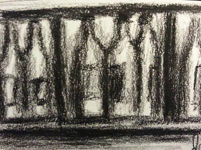 Cabernet Drawing - Wine In Cabinet by Steve Jorde