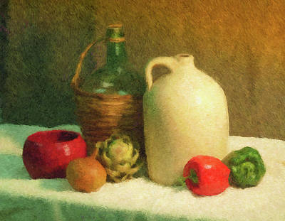 Painting - Wine Jugs Still Life by Sandra Selle Rodriguez