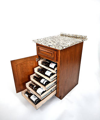 Photograph - Wine-logic Wine Rack by David Coblitz