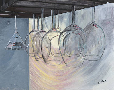 Wine Rack Painting - Wine Lover by Donna Mann