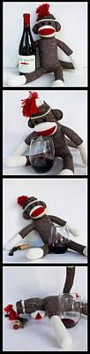 Vino Photograph - Wine Monkey by William Patrick