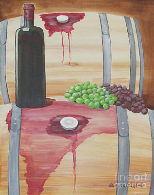 Painting - Wine N Grapes by Edward Maldonado