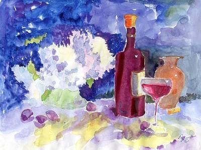 Wine - No Cheese Art Print by Marsden Burnell