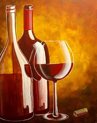 Wine-bottle Painting - Wine Not by Darren Robinson