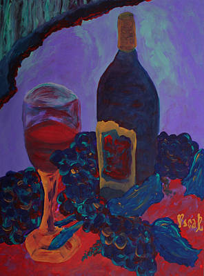 Painting - Wine  by Oscar Penalber
