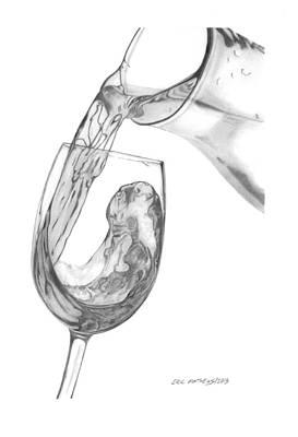 Wine Pour Art Print by Eric Mathews