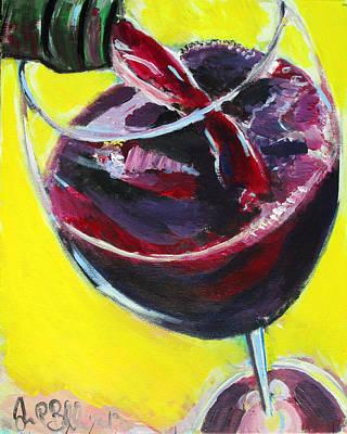 Painting - Wine Pour  by Jon Baldwin  Art