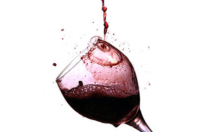 Wine Pour Print by Michael Ledray