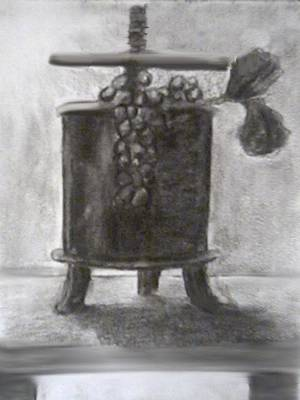 Digital Art - Wine Press by Angela Stout