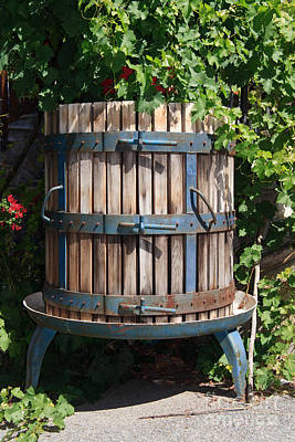 Wine Press Art Print by Antonio Scarpi