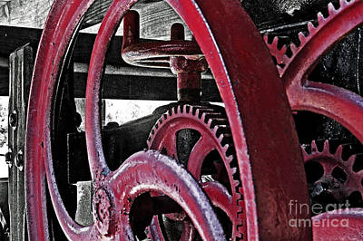 Photograph - Wine Press Gears by Dawn Gari