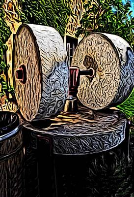 Digital Art - Wine Press by Ron Bissett