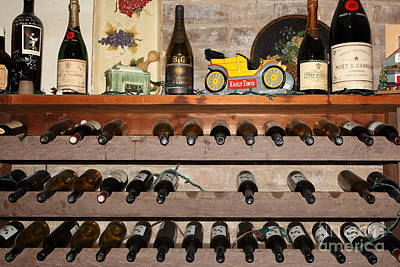 Champagne Photograph - Wine Rack In The Cellar Room At The Swiss Hotel In Sonoma California 5d24445 by Wingsdomain Art and Photography