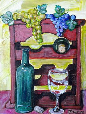 Wine Rack  Art Print by Melissa Torres