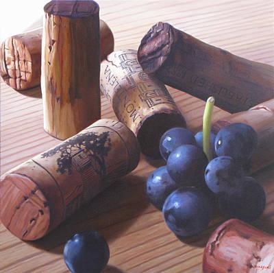 Napa Valley Vineyard Painting - Wine Red by Takayuki Harada