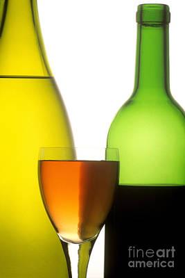 Ro Photograph - Wine. Red. White And Rose by Bernard Jaubert