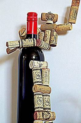Wine Robot Captures A Bottle Of Wine Art Print