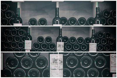 Wine Shelf Collage Art Print by Georgia Fowler